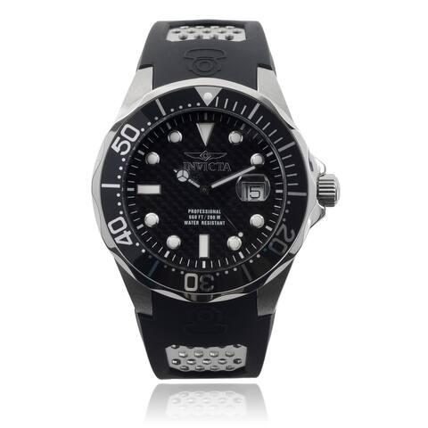 Invicta Men's 'Pro Diver/Grand Diver' Black Polyurethane Watch