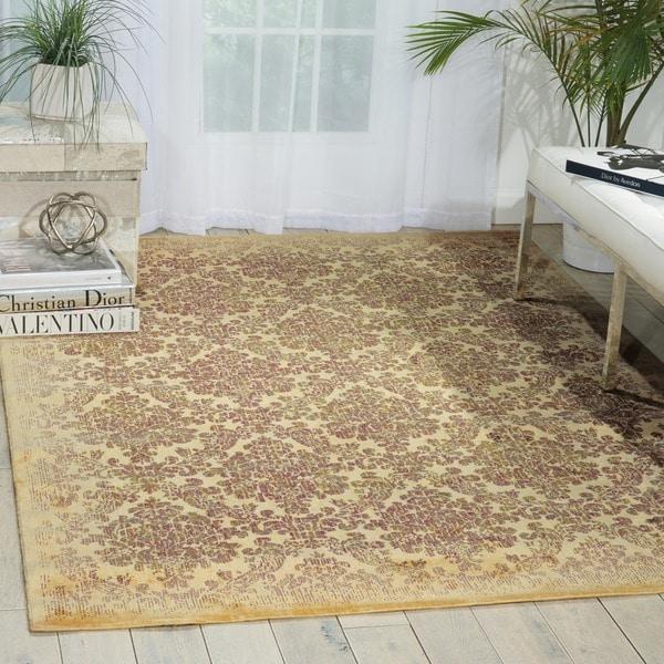Chambord Damask Ivory Rug (9'6 x 13')