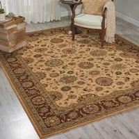 Living Treasures Beige Wool Rug - 8'3 x 11'3