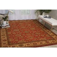 Living Treasures Rust Wool Rug - 9'9 x 13'9