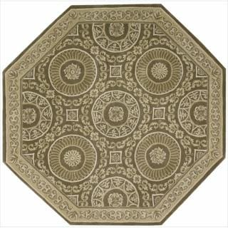 Nourison Hand-tufted Versailles Palace Mocha Brown Rug (6' x 6') Octagon