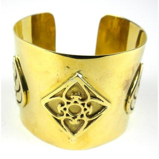 Handmade Bomb Casing with Leaf Design Cuff (Cambodia)