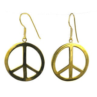 Handcrafted Peace Bomb Casing Earrings (Cambodia)