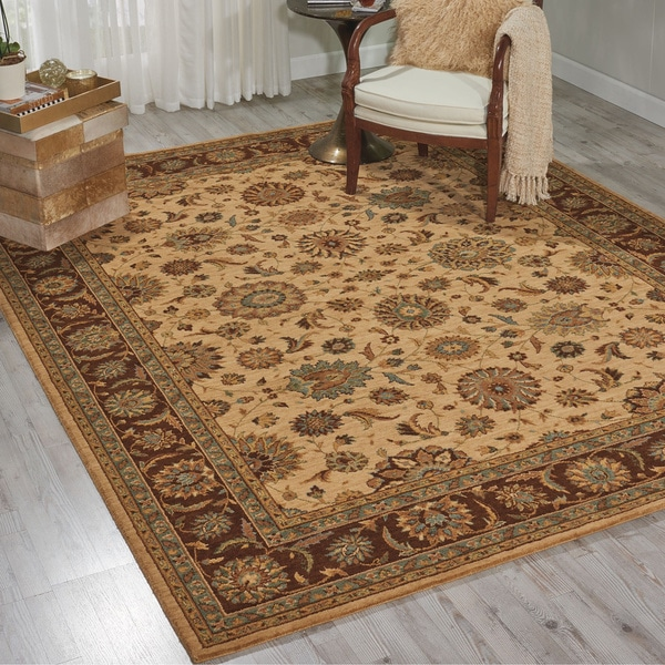 Living Treasures Beige Wool Rug