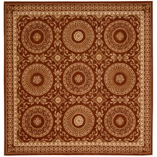 Nourison Hand-tufted Versailles Palace Brick/ Ivory Rug (8' x 8') Square