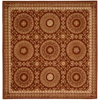 Nourison Hand-tufted Versailles Palace Brick/ Ivory Rug (8' x 8') Square - 8' x 8'