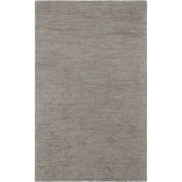 Loomed Two Tone Taupe Elephant Grey Area Rug - 5' x 8'