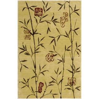 Chambord Asian Rayon from Bamboo Gold Rug (3'6 x 5'6)