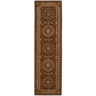 Nourison Hand-tufted Versailles Palace Brick/ Ivory Rug (2'3 x 8') Runner