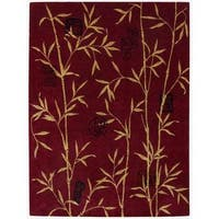 Chambord Asian Rayon from Bamboo Red Area Rug - 7'6 x 9'6