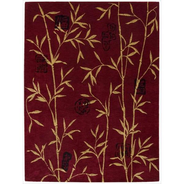Chambord Asian Rayon from Bamboo Red Rug (7'6 x 9'6)