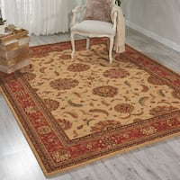 Living Treasures Ivory Red Rug - 9'9 x 13'9
