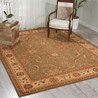 Living Treasures Green Rug - 5'6 x 8'3