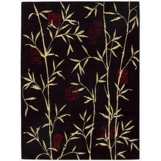 Chambord Asian Rayon from Bamboo Black Area Rug - 7'6 x 9'6