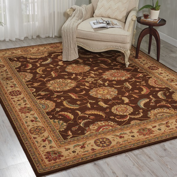 Living Treasures Brown Rug - 8'3 x 11'3