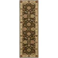 Living Treasures Brown Runner Rug - 2'6 x 8'
