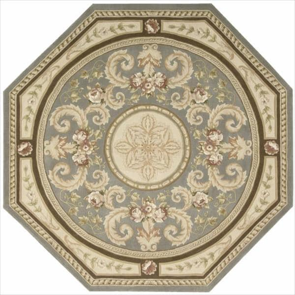 Nourison Hand-tufted Versailles Palace Blue/Beige Rug (6' x 6') Octagon