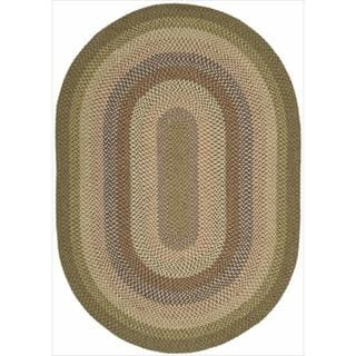 Hand-woven Craftworks Braided Autumn Mutli Color Rug (2'3 x 7')