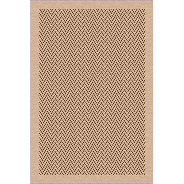 Woven Indoor Outdoor Herringbone Beige Light Brown Patio