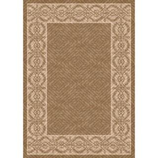 Woven Barrymore Light Brown/ Beige Indoor/ Outdoor Patio Rug (5'3 x 7'6)