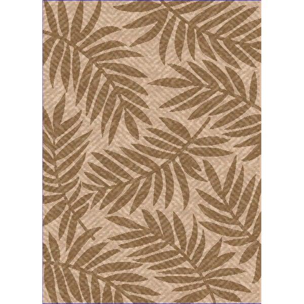 Woven Indoor/ Outdoor Captiva Beige/ Lt Brown Patio Rug (7'9 x 11')