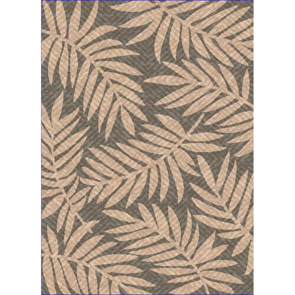 Woven Indoor/ Outdoor Captiva Grey/ Beige Patio Rug (7'9 x 11')