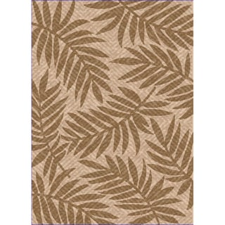 Woven Indoor/ Outdoor Captiva Beige/ Lt Brown Patio Rug (5'3 x 7'6)