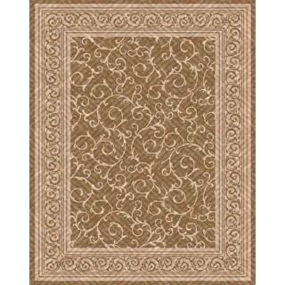 Woven Indoor/ Outdoor Meadow Lt Brown/ Beige Patio Rug (5'3 x 7'6)