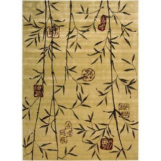 Chambord Asian Rayon from Bamboo Gold Rug (7'6 x 9'6)