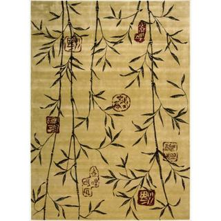 Chambord Asian Rayon from Bamboo Gold Rug - 7'6 x 9'6