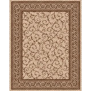Woven Indoor/ Outdoor Meadow Beige/ Brown Patio Rug (5'3 x 7'6)