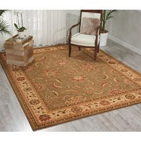 Living Treasures Green Rug - 8'3 x 11'3