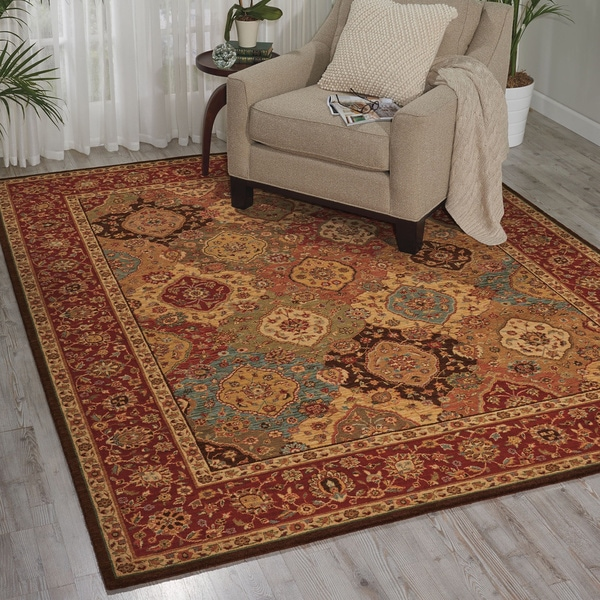 Living Treasures Burgundy Rug