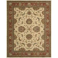 Living Treasures Ivory Red Rug