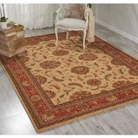 Living Treasures Ivory Red Rug - 3'6 x 5'6