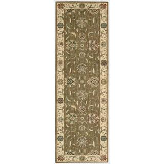 Living Treasures Khaki Runner Rug (2'6 x 8')