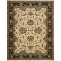 Living Treasures Ivory Black Rug - 7'6 x 9'6