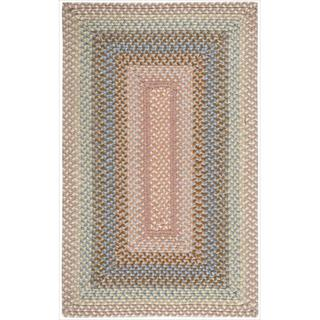Hand-woven Craftworks Braided Coral Multi Color Rug (7'6 x 9'6)