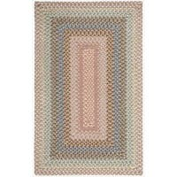 Hand-woven Craftworks Braided Coral Multi Color Rug - 7'6 x 9'6