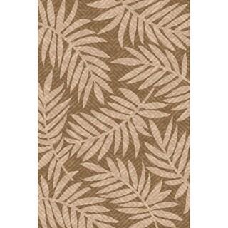 Woven Indoor Outdoor/ Captiva Lt Brown/ Beige Patio Rug (5'3 x 7'6)