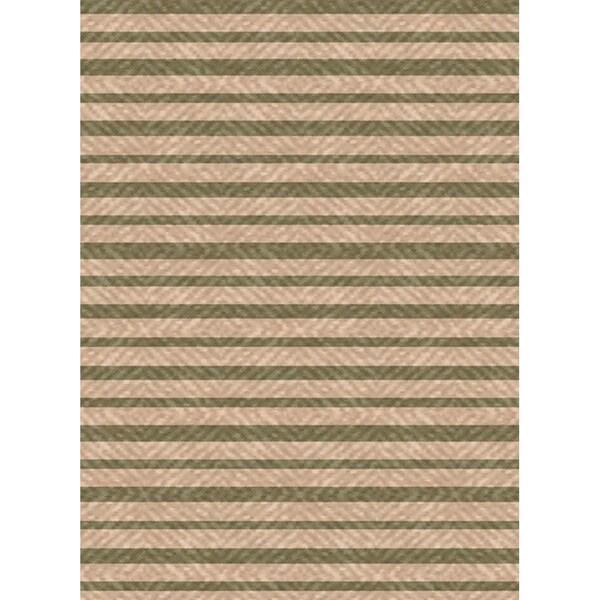 Shop Woven Indoor Outdoor Summer Stripe Beige Green