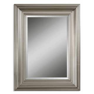 Uttermost Mario Silver Wood Framed Beveled Mirror