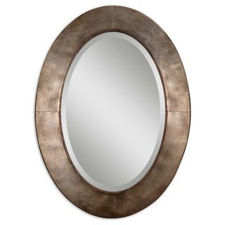 Uttermost Kayenta Antiqued Silver Champagne Leaf Framed Mirror