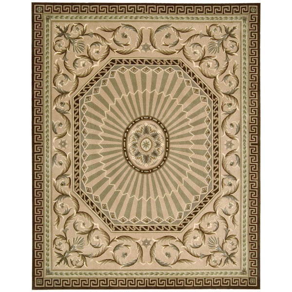 Nourison Hand-tufted Versailles Palace Mocha Rug (9'6 x 13'6)