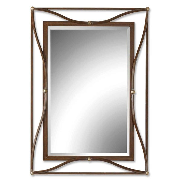 Shop Uttermost Thierry Double Scratched Bronze Framed Beveled Mirror ...