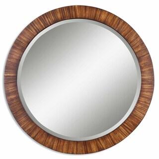Uttermost Jules Zebrano Veneer Framed Beveled Mirror