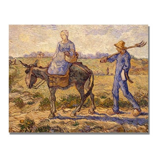 Vincent Van Gogh 'Morning Going out to Work' Canvas Art