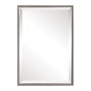 Uttermost Sherise Brushed Nickel Bead Framed Beveled Mirror
