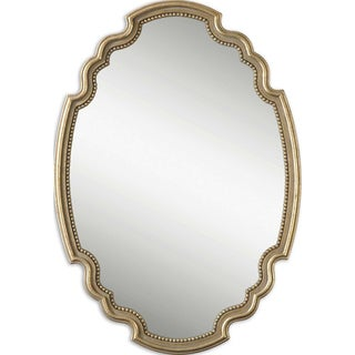 Uttermost Terelle Antiqued Gold Bead Framed Mirror