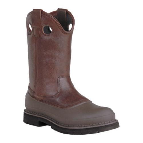 Men's Georgia Boot G56 12in Safety Toe Pull On Mud Dog Comfort Core Soggy Brown Full Grain Leather